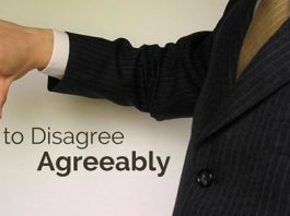 how to disagree agreeably
