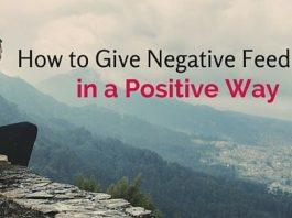 negative feedback in positive way