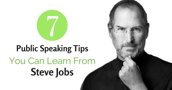 public speaking tips steve jobs