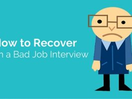 recover from bad job interview