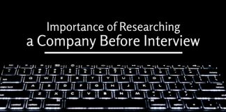 researching company before interview