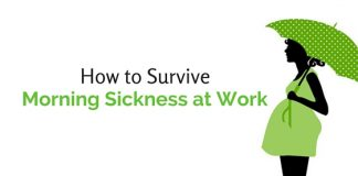survive morning sickness at work