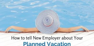 tell employer about planned vacation