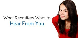 what recruiters want to hear