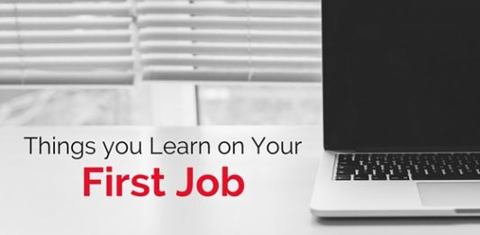 you learn on first job