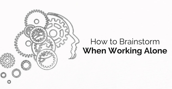 brainstorm when working alone