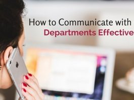 communicate with other departments