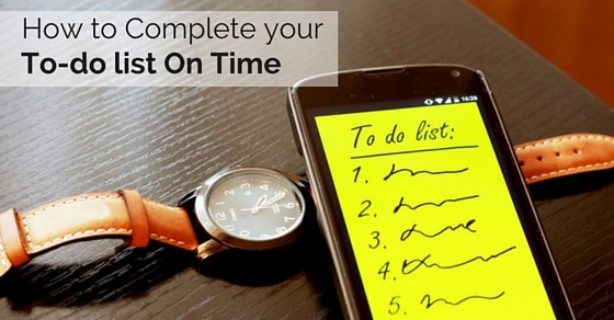 complete to do list on time