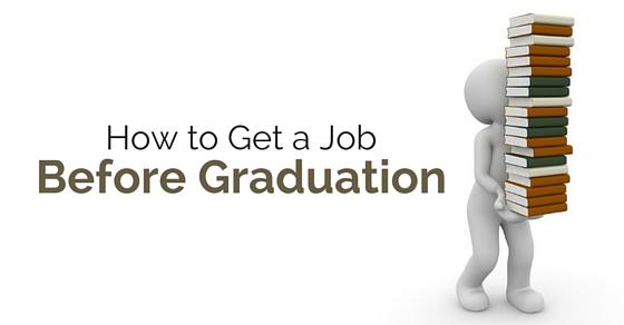 get job before graduation