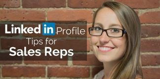 linkedin profile tips sales reps