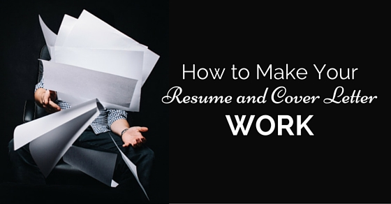 make resume cover letter work