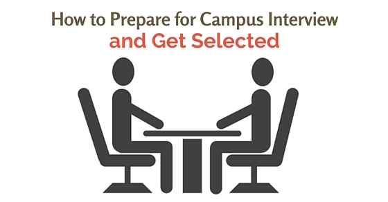 prepare for campus interview