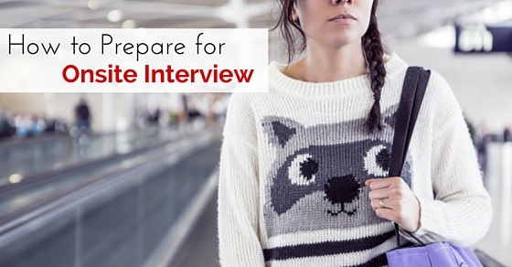 prepare for onsite interview