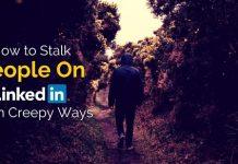 stalk people on linkedin
