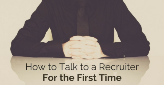 talk to recruiter first time