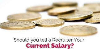 tell recruiter current salary