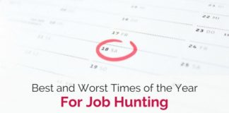 times for job hunting