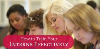 train your interns effectively