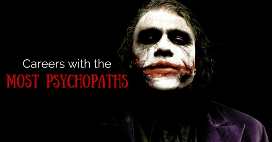 Careers with most psychopaths