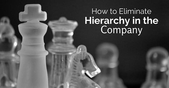 eliminate hierarchy in company