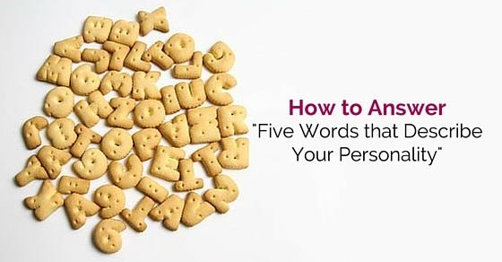 five words describe personality