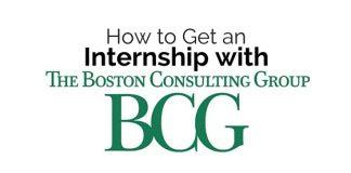get internship with bcg