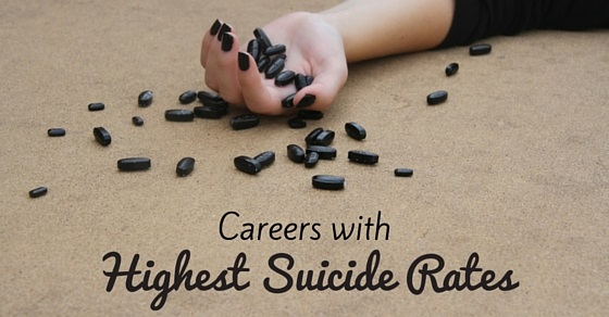 highest suicide rates careers