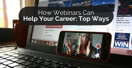 how webinars help career