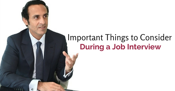 important things during job interview