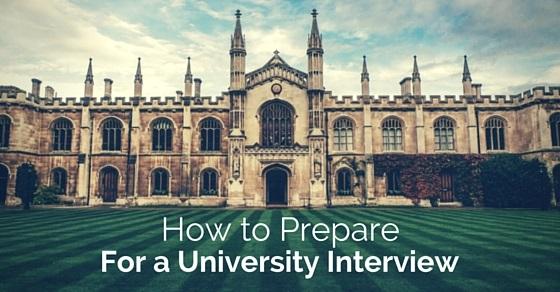 prepare for university interview