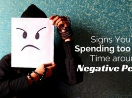 spending time around negative people