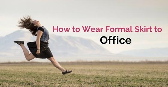 wear formal skirt office
