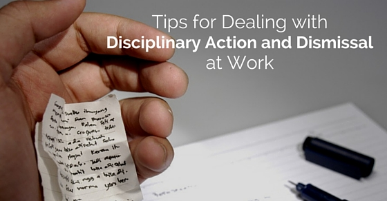 disciplinary action and dismissal