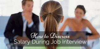 discuss salary during job interview
