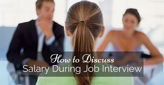 discuss salary during job interview