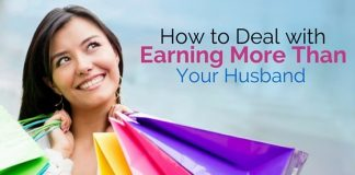 earning more than husband