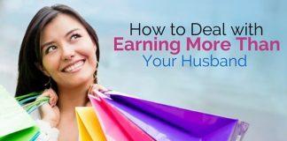 earning more than husband