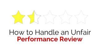handle unfair performance review