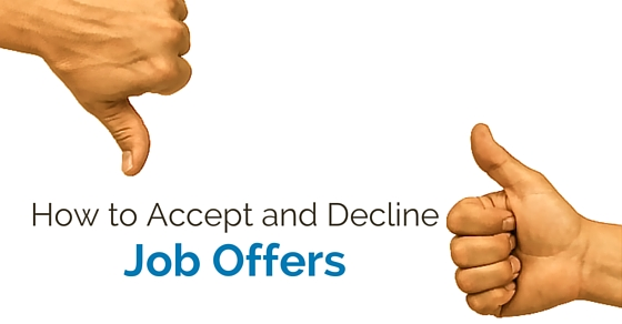 how accept decline job offer