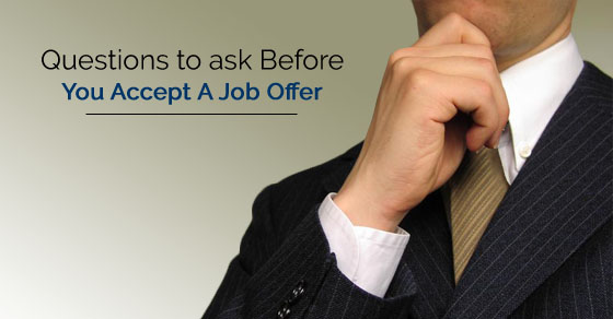 questions before accepting job offer
