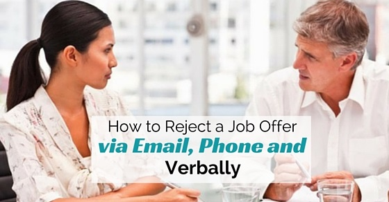 reject job offer via email