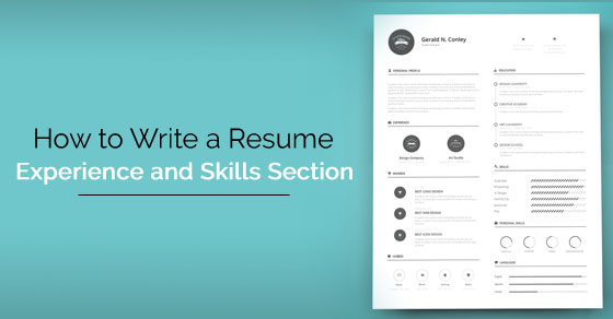 resume experience skills section