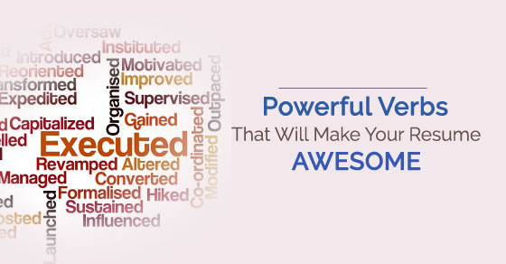 Powerful Verbs List:  Powerful Verbs For Resume