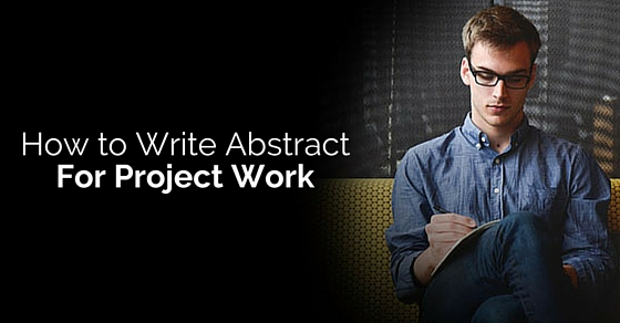 write abstract for project