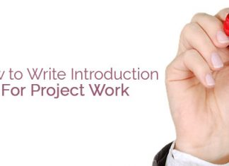 write introduction for project