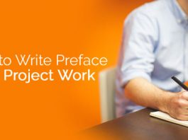 write preface for project