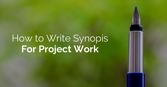write synopsis for project