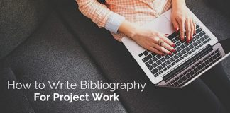 writing bibliography for project