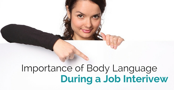 body language during interview