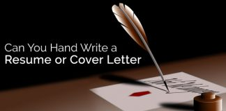 handwritten resume cover letter